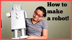 how to make a recycled robot spring break homework youtube
