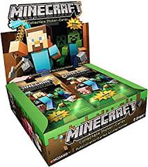 minecraft cards minecraft collectible trading cards stickers pack box