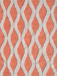 Coral Area Rug Woven Moroccan Trellis Geometric Flatweave Wool Rug 2