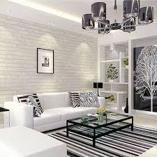 livingroom wallpaper white grey real looking brick pattern wallpaper wp120 pinteres