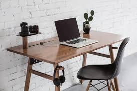 Gray Computer Desk Walnut Desk 02 Artifox