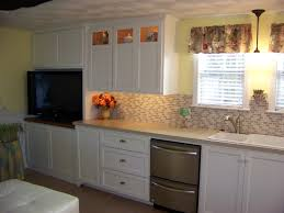 wainscoting kitchen backsplash cabin remodeling kitchen backsplash ideas with cherry cabinets