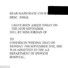 dear majistrate woman jailed after giving bogus gp letter to