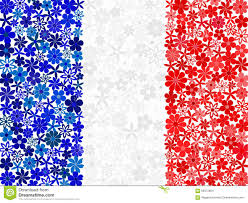Image Of French Flag Floral Mosaic French Flag Stock Vector Illustration Of Blue