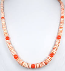 large red bead necklace images Heishi shell and gemstone necklaces page 2