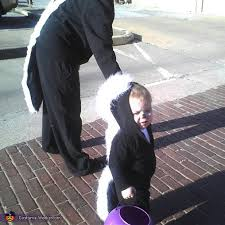 Skunk Halloween Costumes Baby Skunk Mommy Skunk Diy Halloween Costumes