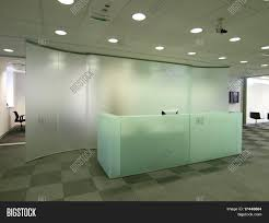 Glass Reception Desk Reception Desk Made Glass Image U0026 Photo Bigstock