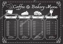 sle menu design templates 24 chalkboard menu templates free sle exle format
