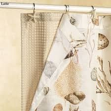Brown Waffle Weave Shower Curtain by Spa Waffle Weave Shower Curtain