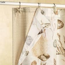 spa waffle weave shower curtain