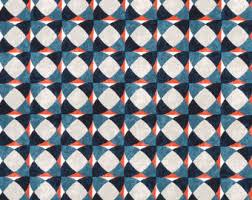 Geometric Orange Curtains Scaled Geometric Upholstery Fabric Refreshing Print For