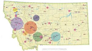 Montana Map Cities by Montana Nonprofit Association