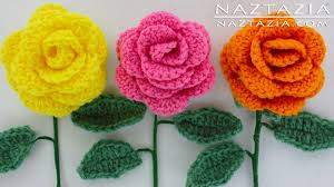 diy learn how to crochet a beginner easy flower rose rosas