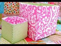 Make Your Own Toy Box Pattern by How To Sew A Fabric Box Bin Youtube