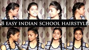 easy indian hairstyles for school 8 easy hairstyles for indian schools back to school hairstyles