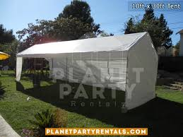 party rentals in los angeles 10ft x 30ft tent rental