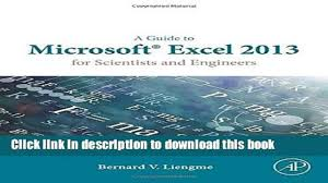 books a guide to microsoft excel 2013 for scientists and engineers