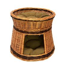two tier wicker cat house with cushions cat houses cat and house