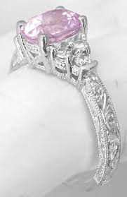 light pink engagement rings 2 39 ctw unheated light pink sapphire and ring in 14k white