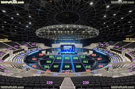 hydro sse arena glasgow detailed seat numbers seating plan