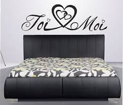 stickers chambre adulte beau stickers amour toi moi amoureux tête de lit chambre