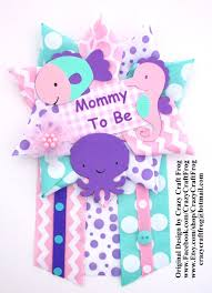 under the sea baby shower corsage by crazy craft frog