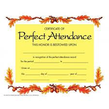 attendance certificate template good attitude certificate