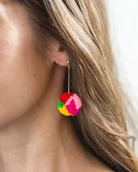 second earrings how to make a pair of statement pom pom earrings your bff will