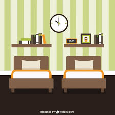 bedroom furniture decoration vector free