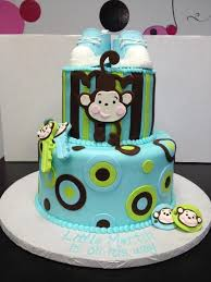 cakes for baby showers baby shower cakes monkey theme cake image idea just another