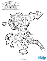 skylanders trap team coloring pages knight mare in hellokids