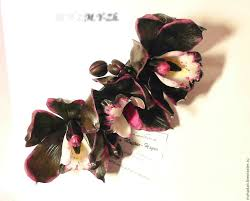 black orchid flower hair clip with black orchids work order shop online on
