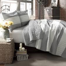 Lush Decor Belle Comforter Set Lush Decor Berlin Stripe 3 Piece Quilt Set Full Queen Gray