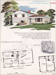 split level house plan 1955 national plan service midcentury split level house plan