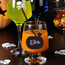 halloween barware set of halloween pumpkin chalkboard labels by nutmeg