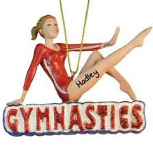 gymnastics ornaments gifts personalized