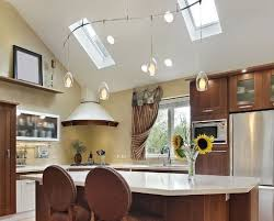 Track Lighting For Kitchen Ceiling Kitchen Lighting Vaulted Ceiling Ceilings Solutions Country
