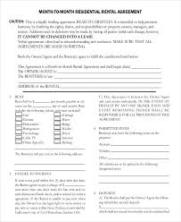 month to month rental agreement template u2013 12 free word pdf