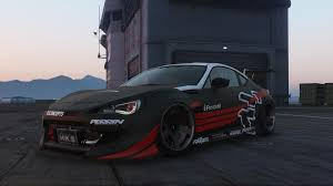 subaru brz rocket bunny subaru brz rocket bunny v3 add on replace livery gta5 mods com