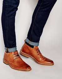 dune leather montenegro chukka boots in brown for men lyst
