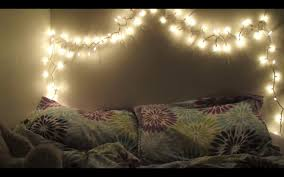 diy twinkling lights headboard youtube