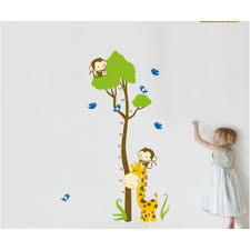 lovely cartoon giraffe wall decal wall art decals vinyl wall