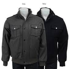 Wool Bomber Jacket Mens Sean John Men U0027s Wool Blend Bomber Jacket Free Shipping Today