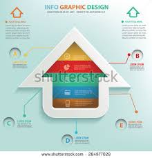 Home Graphic Design Business Home Concept Design On Clean Backgroundclean Stock Vector
