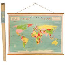 Uk World Map by World Map Wall Chart Dotcomgiftshop