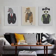 online get cheap zebra print room decor aliexpress com alibaba modern fashion animals hippie deer lion zebra giraffe art print poster wall picture canvas painting living