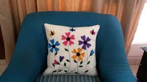 16 x 16 handmade floral felt applique discovered