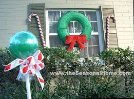 Plastic Outdoor Christmas Decorations For Sale outdoor u201ccandy u201d a christmas decorating idea the seasonal home