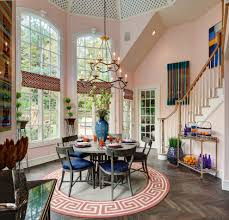 designer showhouse dining room eclectic with orange eclectic