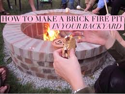 How To Make A Fire Pit With Bricks - how to make a brick fire pit in your backyard bigdiyideas com